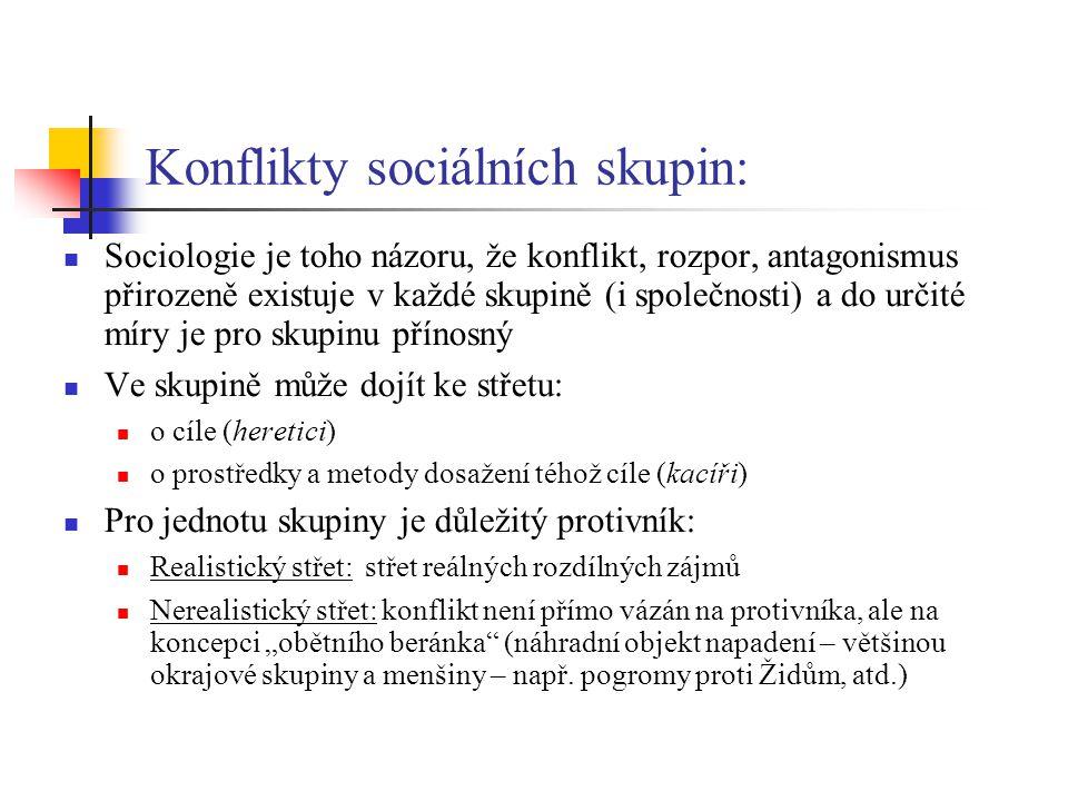 Konflikty sociálních skupin: