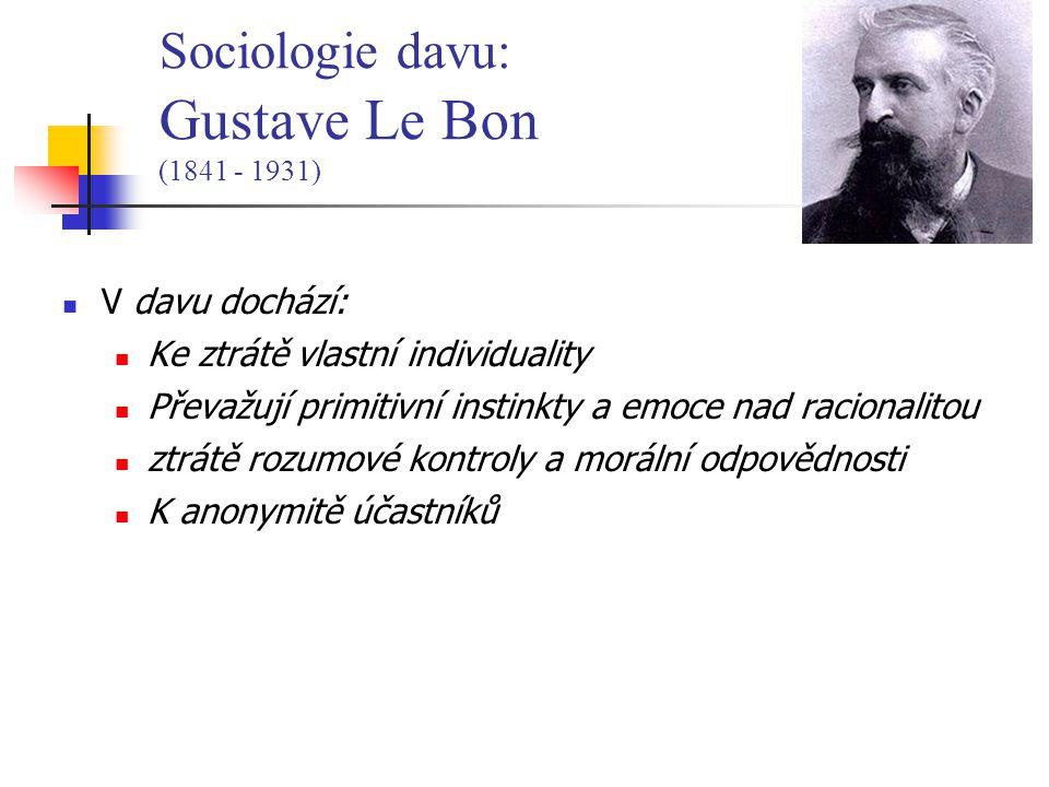 Sociologie davu: Gustave Le Bon (1841 - 1931)