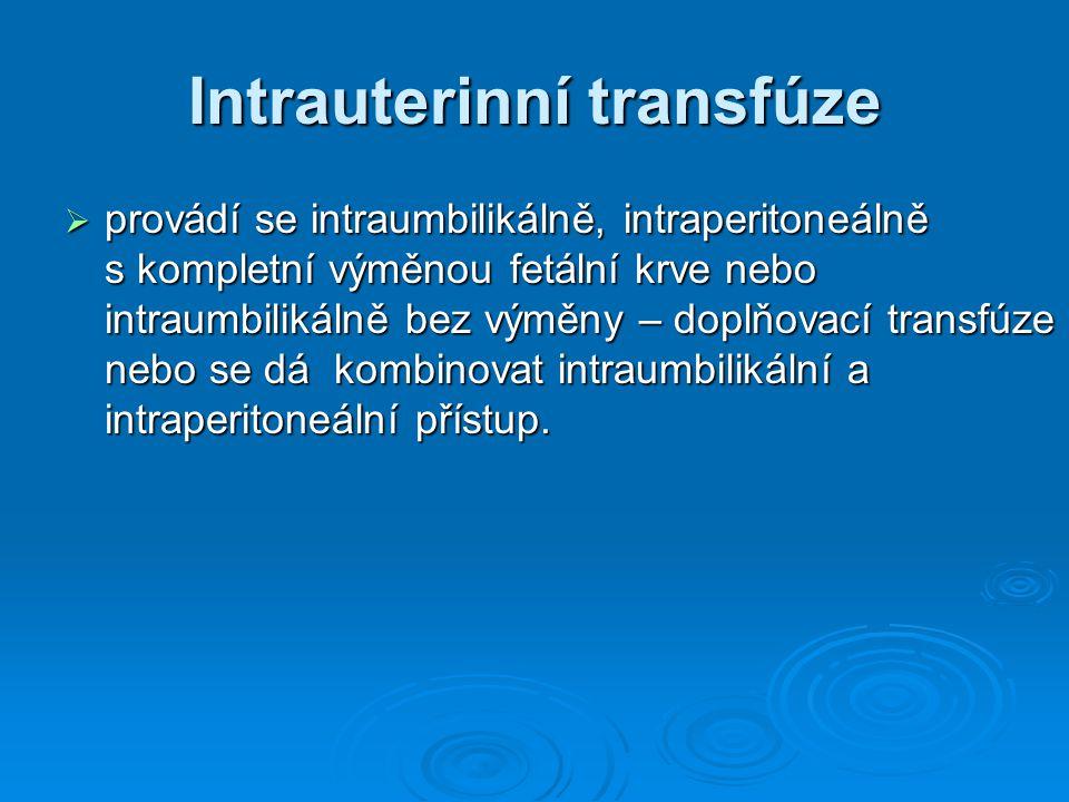 Intrauterinní transfúze