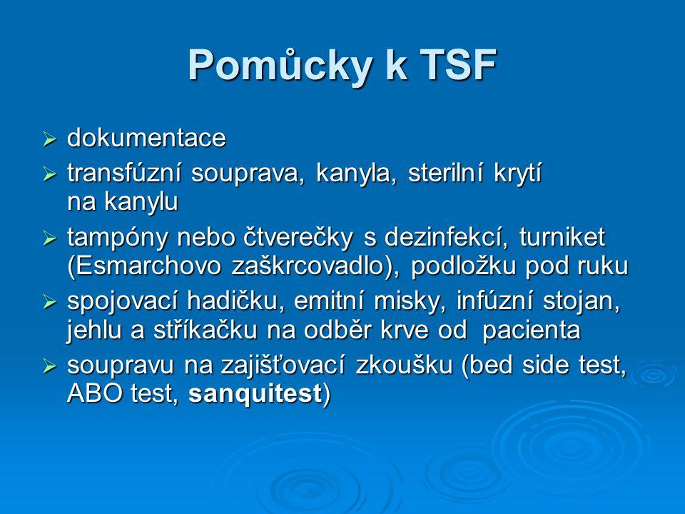 Pomůcky k TSF dokumentace