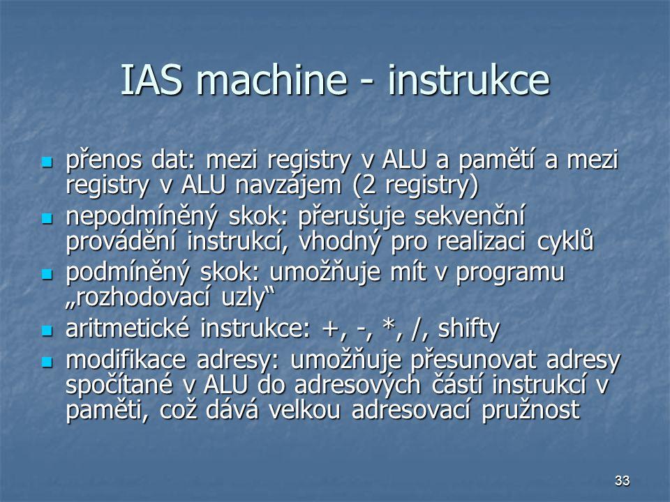 IAS machine - instrukce