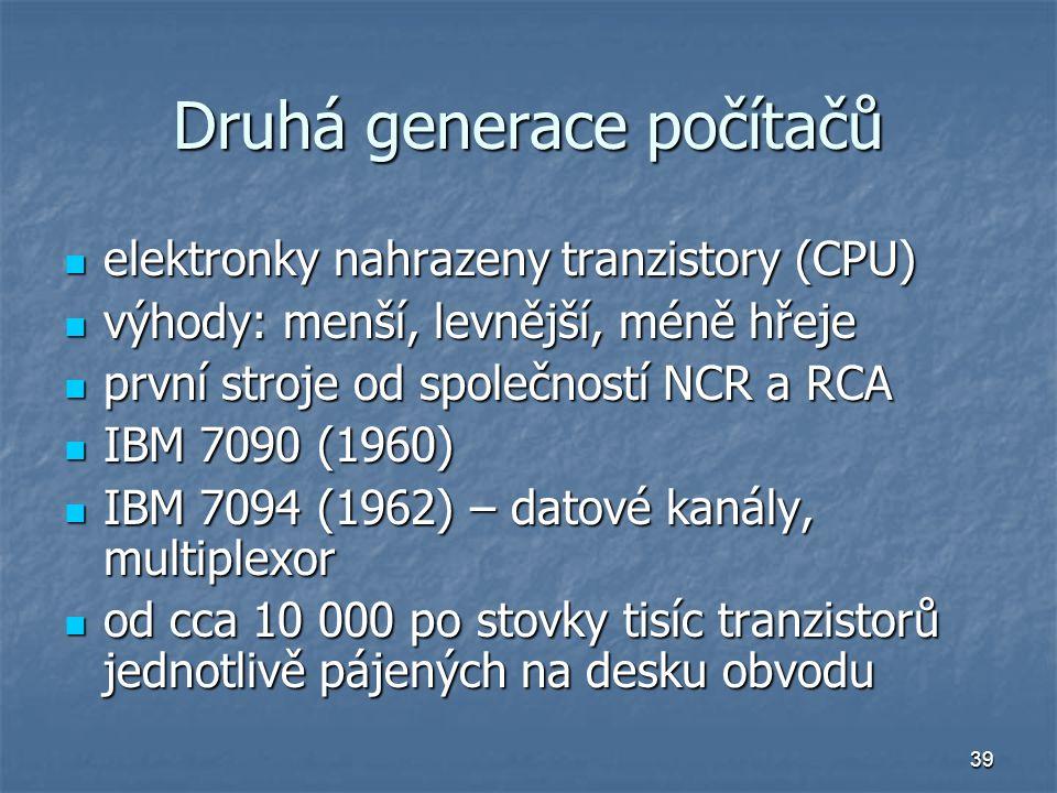 Druhá generace počítačů