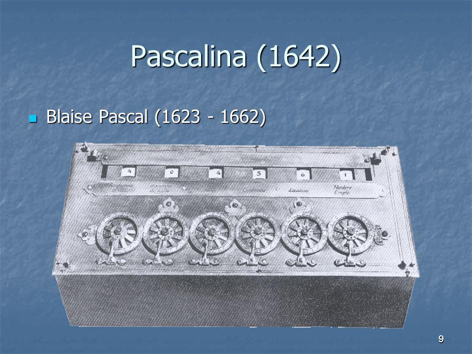Pascalina (1642) Blaise Pascal (1623 - 1662)