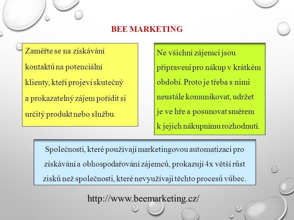 http://www.beemarketing.cz/ BEE marketing Zaměřte se na získávání