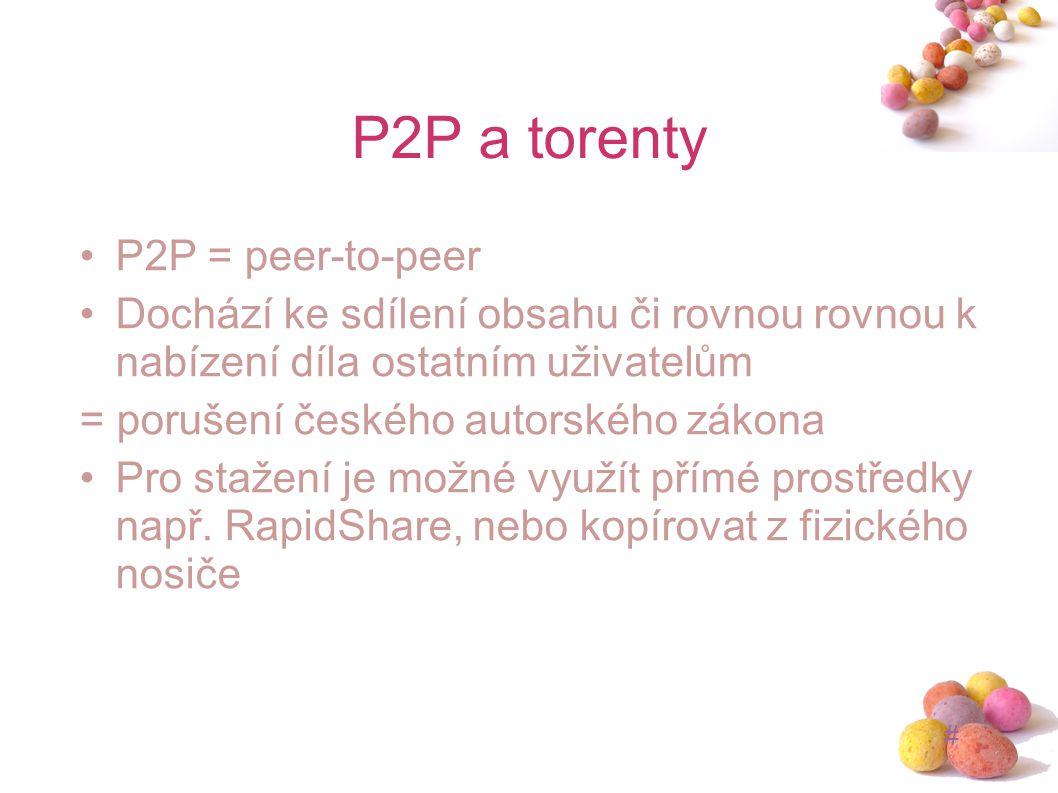 P2P a torenty P2P = peer-to-peer