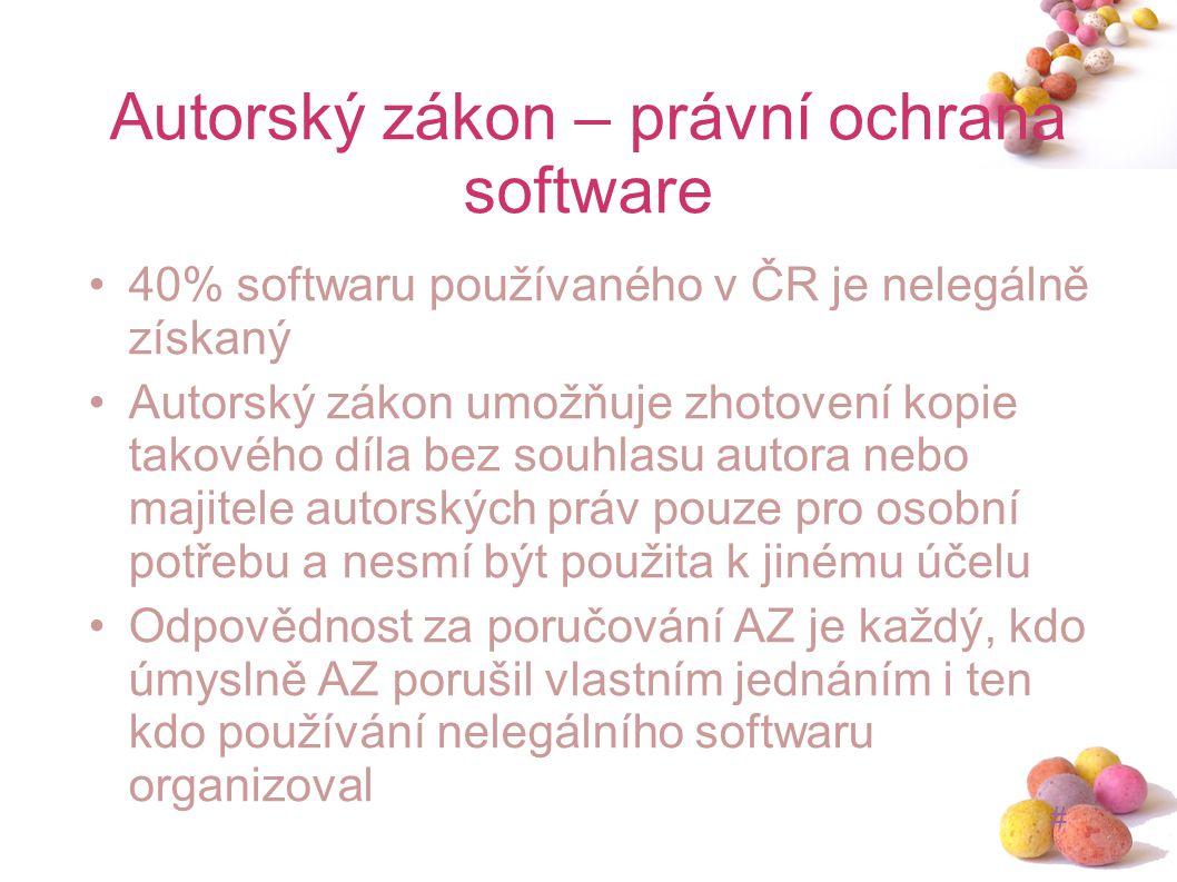 Autorský zákon – právní ochrana software