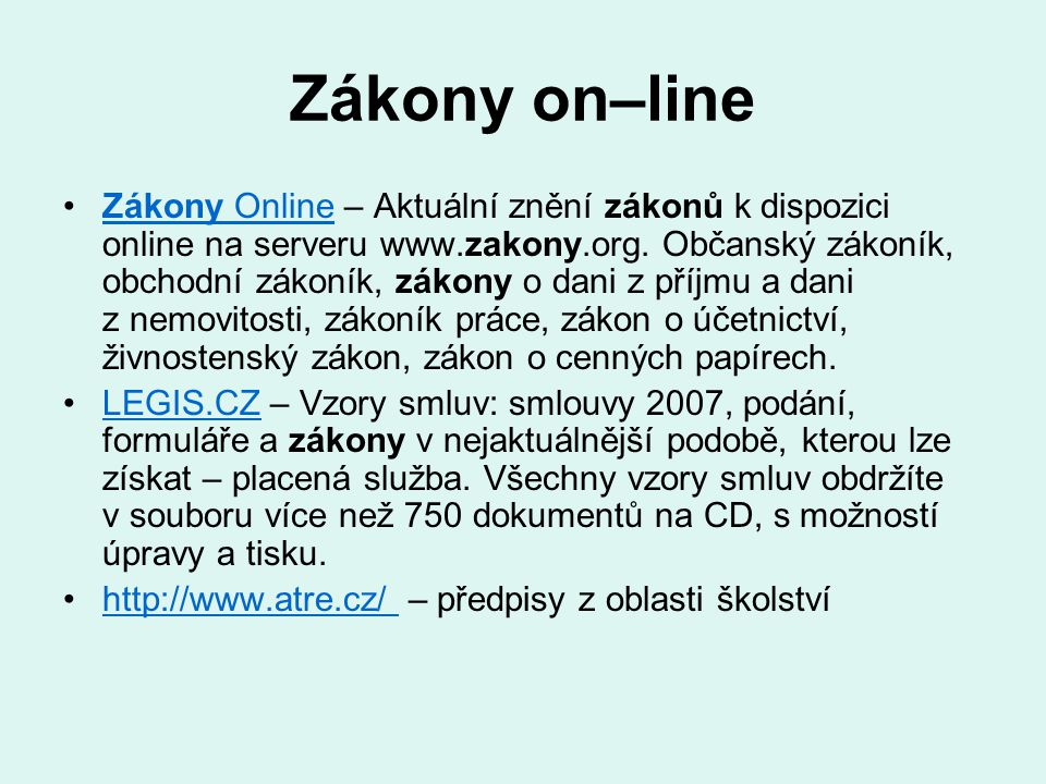 Zákony on–line