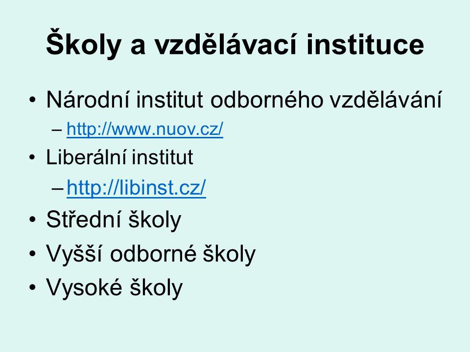Školy a vzdělávací instituce