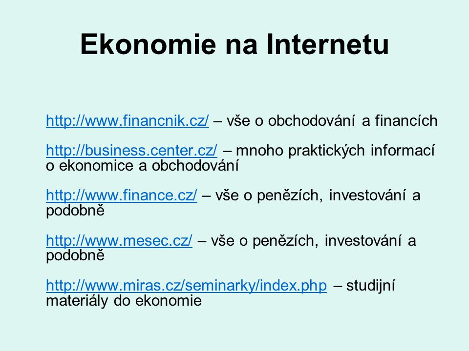 Ekonomie na Internetu