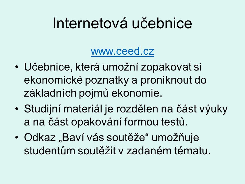 Internetová učebnice www.ceed.cz