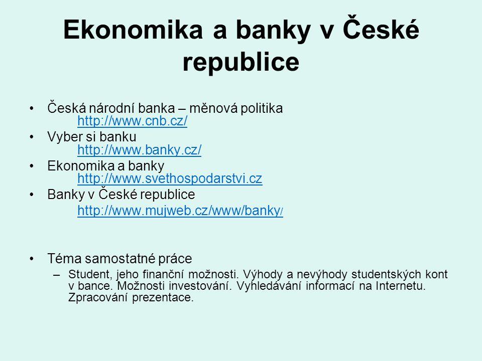 Ekonomika a banky v České republice