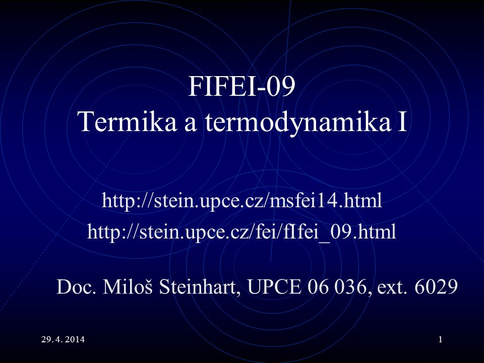 FIFEI-09 Termika a termodynamika I