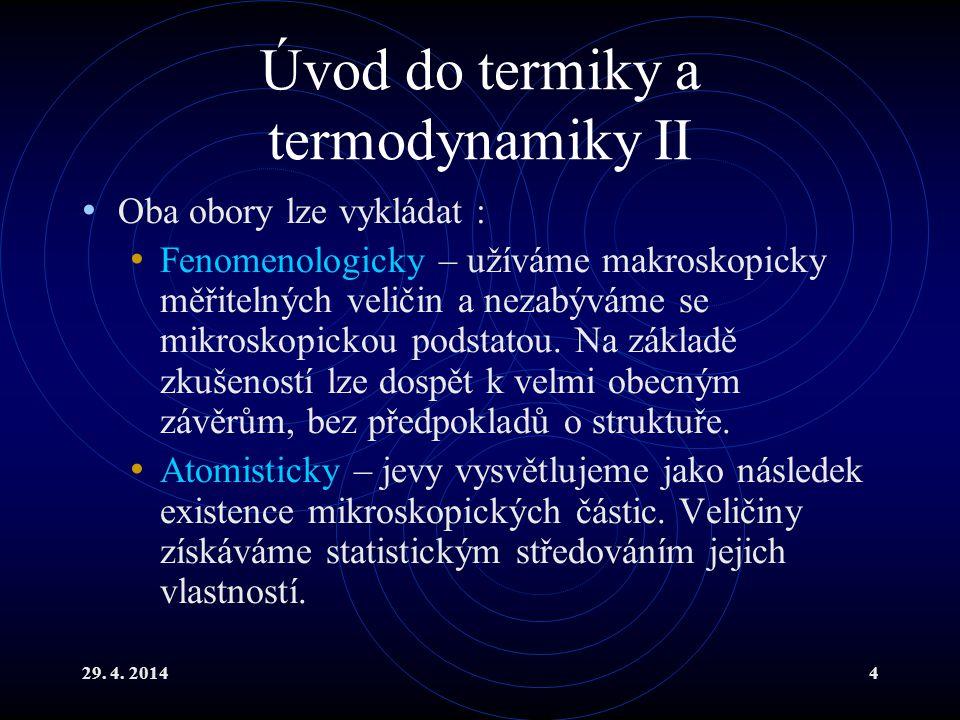 Úvod do termiky a termodynamiky II