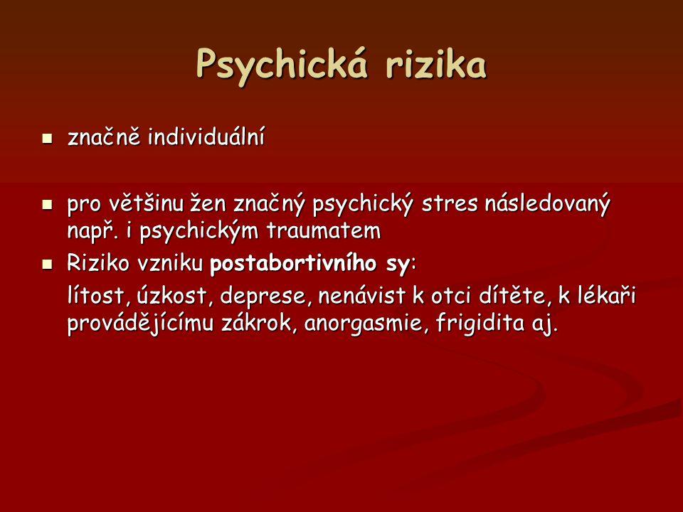 Psychická rizika značně individuální