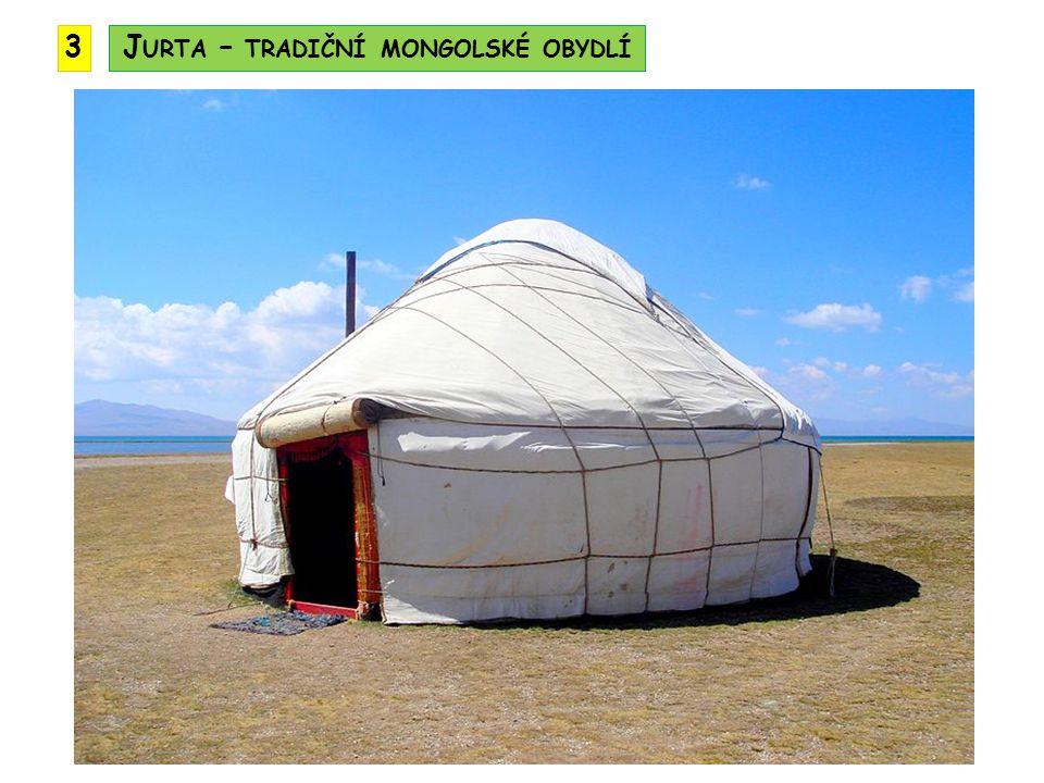 Jurta – tradiční mongolské obydlí