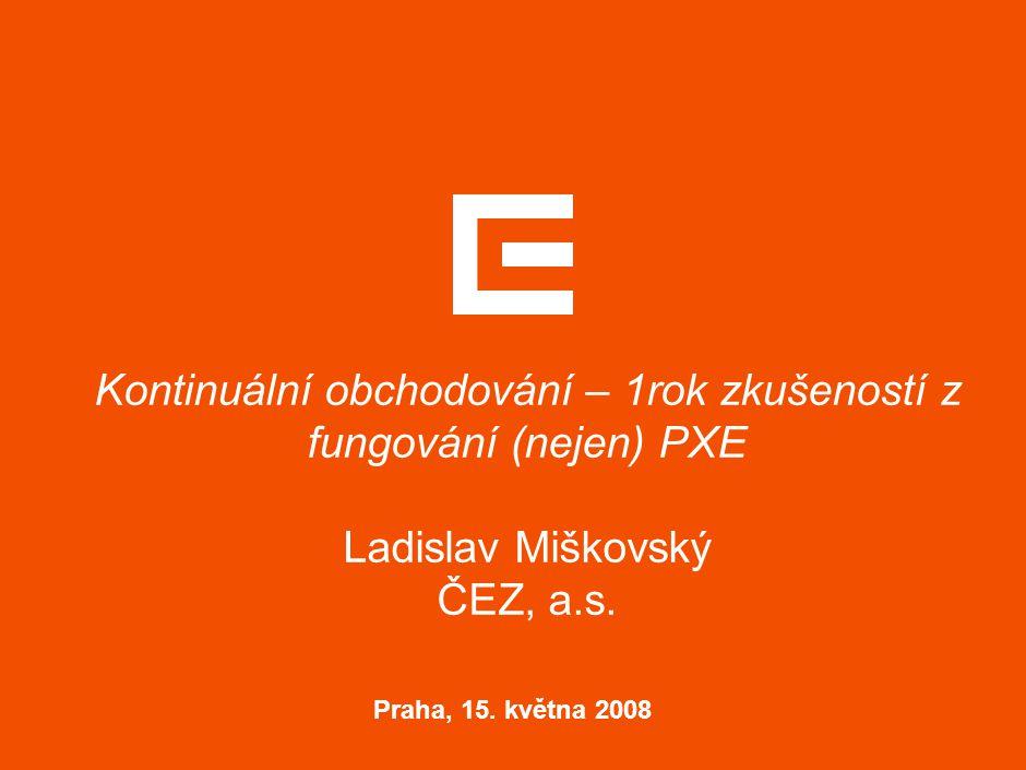 Struktura Tradingu v ČEZ