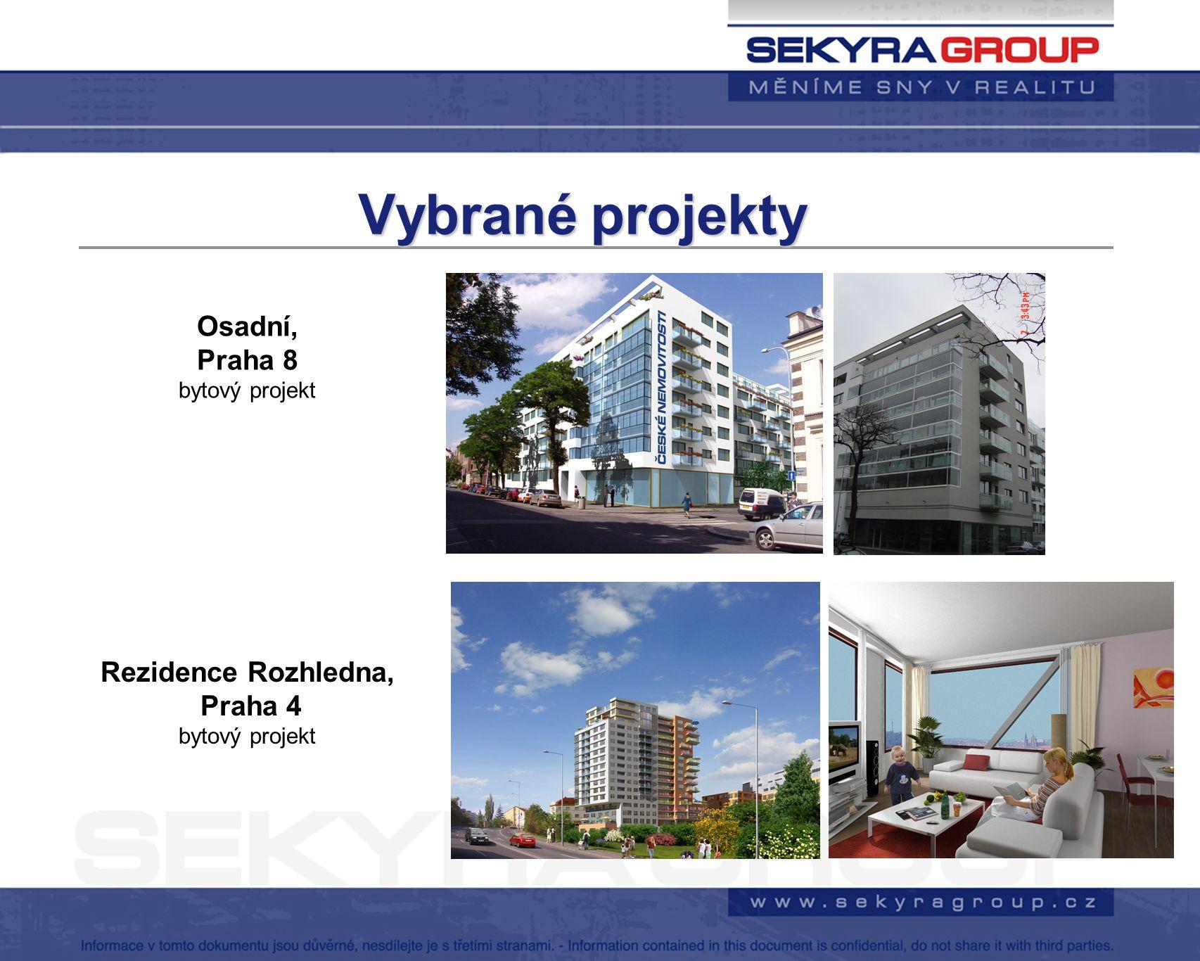 Vybrané projekty Osadní, Praha 8 Rezidence Rozhledna, Praha 4