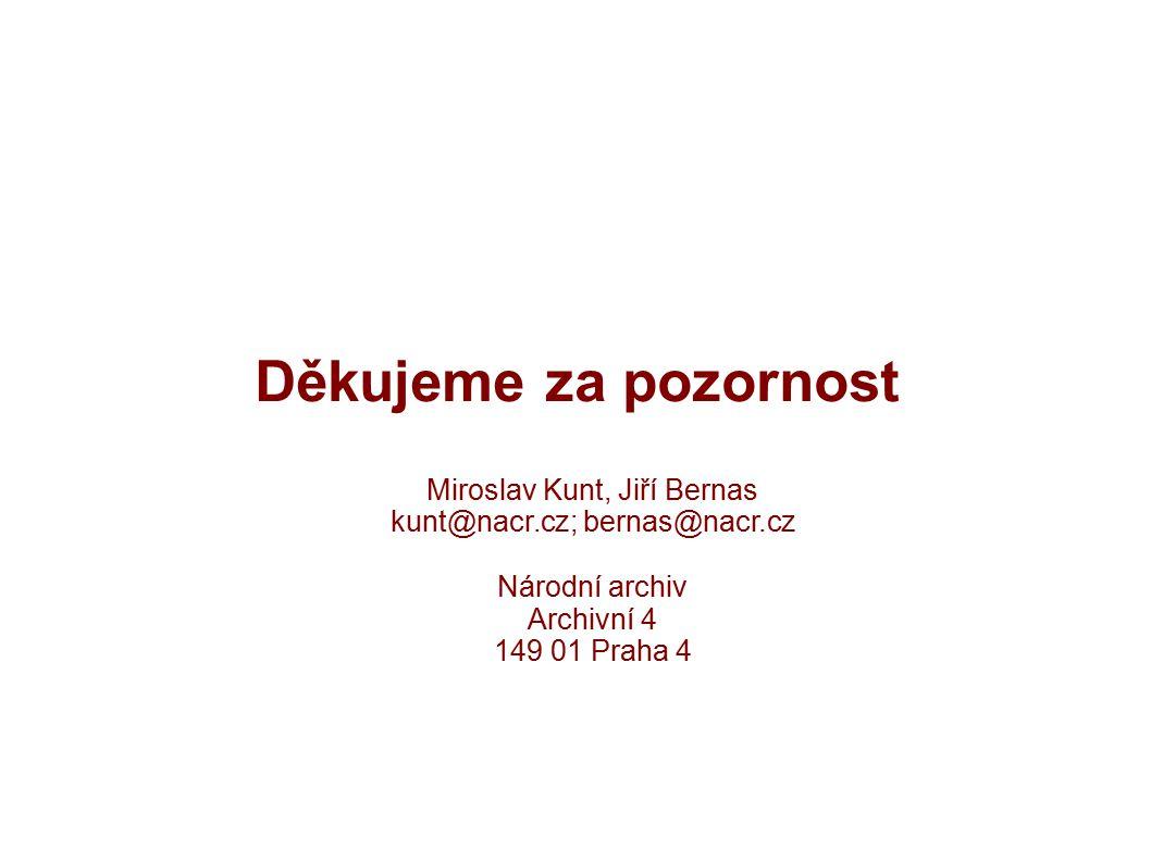 Děkujeme za pozornost Miroslav Kunt, Jiří Bernas