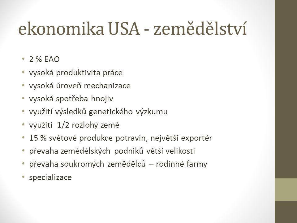 ekonomika USA - zemědělství
