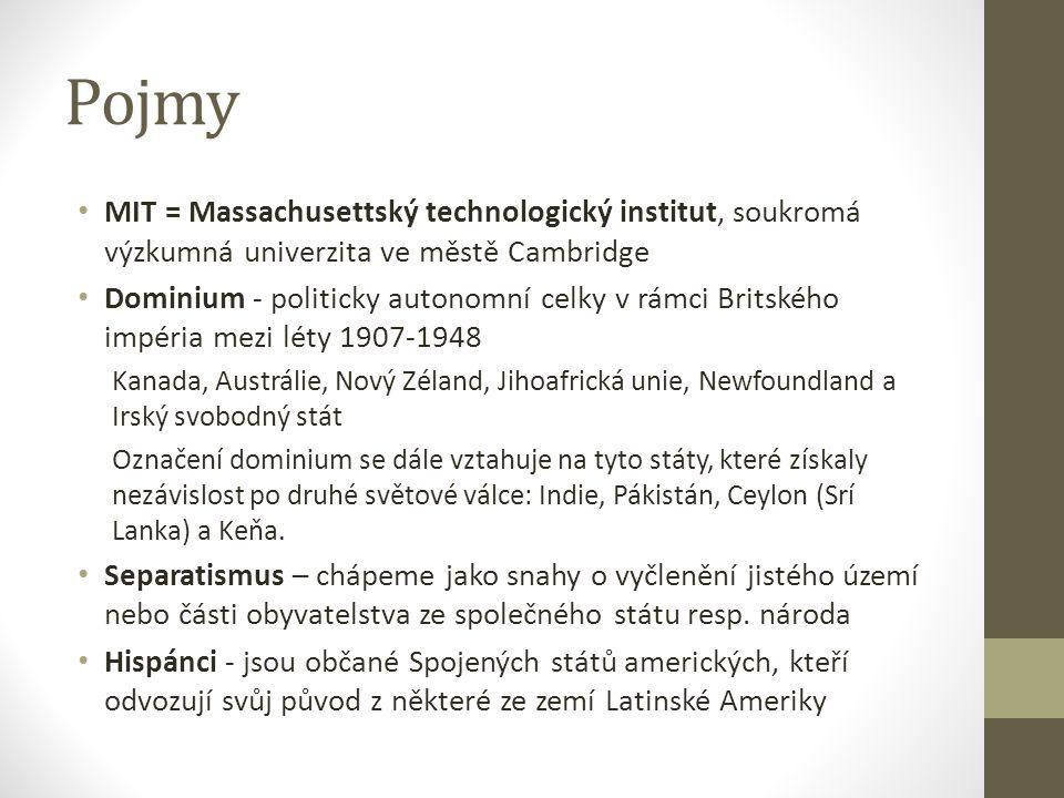 Pojmy MIT = Massachusettský technologický institut, soukromá výzkumná univerzita ve městě Cambridge.