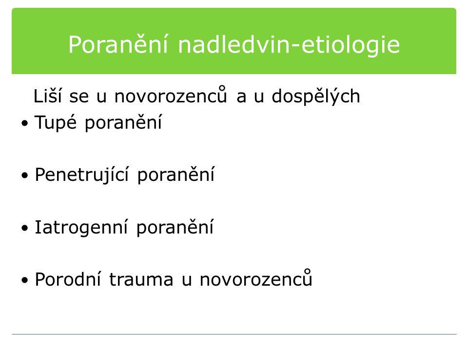 Poranění nadledvin-etiologie
