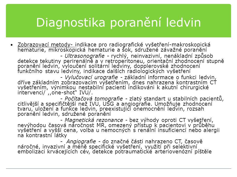 Diagnostika poranění ledvin