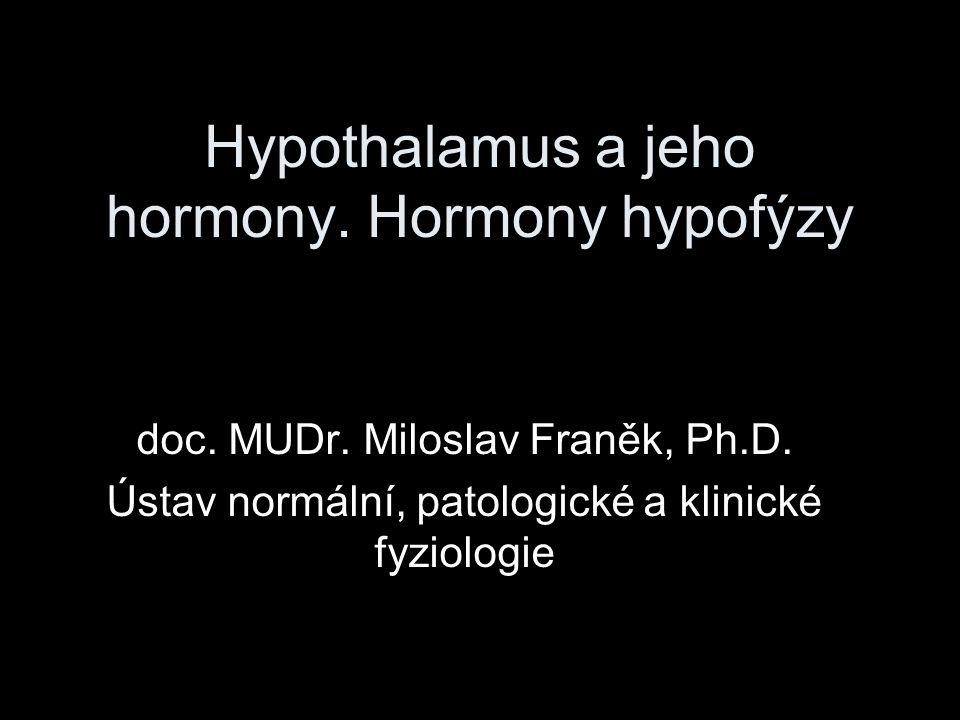 Hypothalamus a jeho hormony. Hormony hypofýzy
