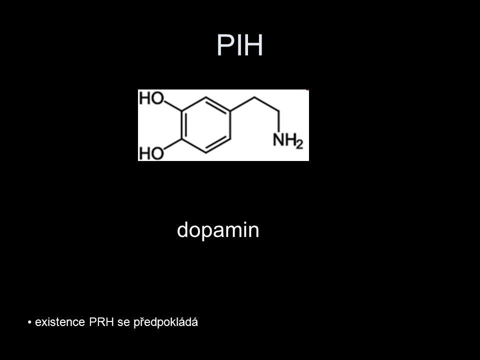PIH dopamin existence PRH se předpokládá