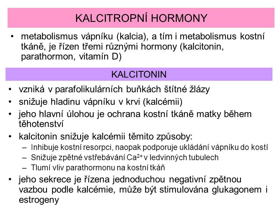 KALCITROPNÍ HORMONY