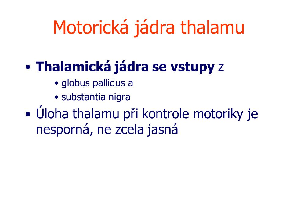 Motorická jádra thalamu