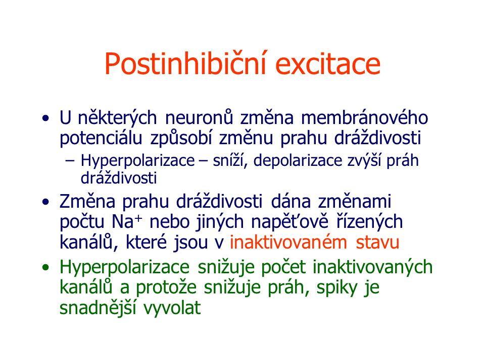 Postinhibiční excitace