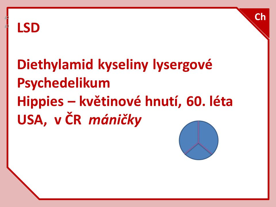 Diethylamid kyseliny lysergové Psychedelikum