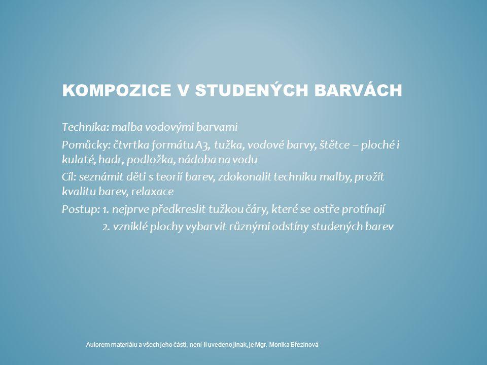 KOMPOZICE V STUDENÝCH BARVÁCH