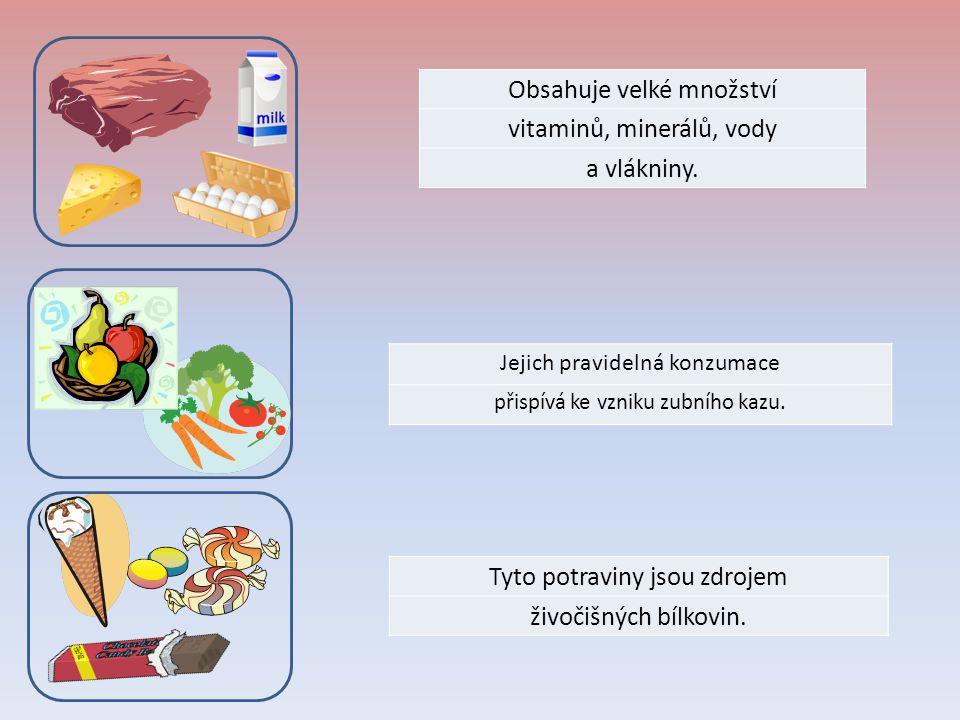 Obsahuje velké množství vitaminů, minerálů, vody a vlákniny.