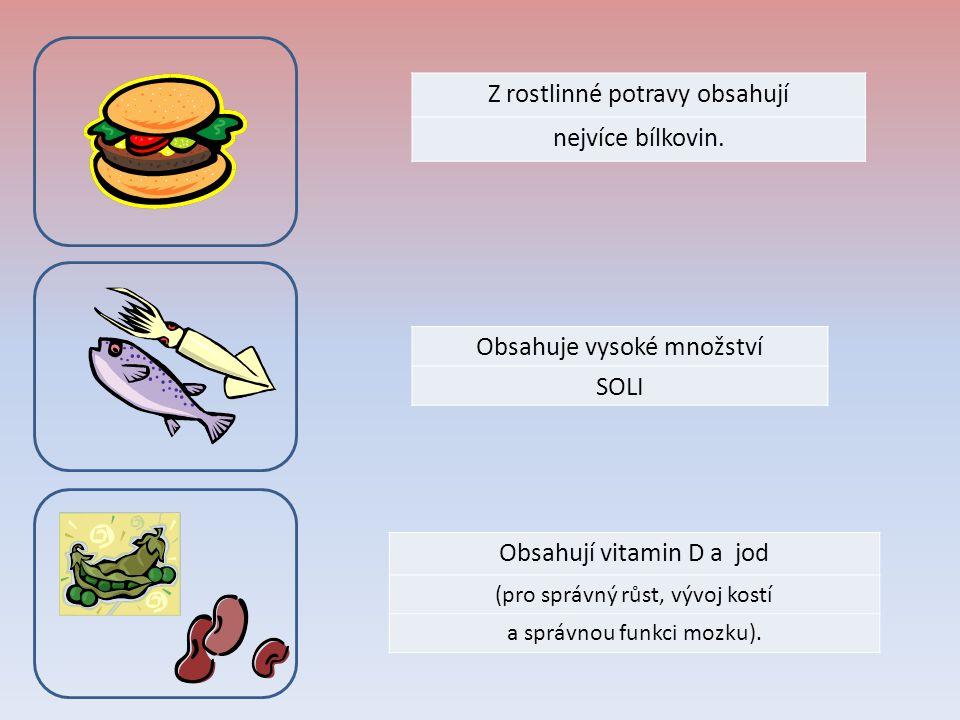 Z rostlinné potravy obsahují nejvíce bílkovin.