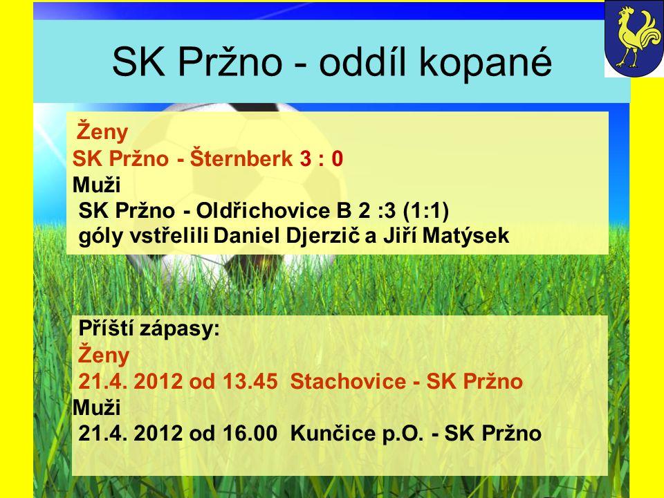 SK Pržno - oddíl kopané SK Pržno - Šternberk 3 : 0 Muži