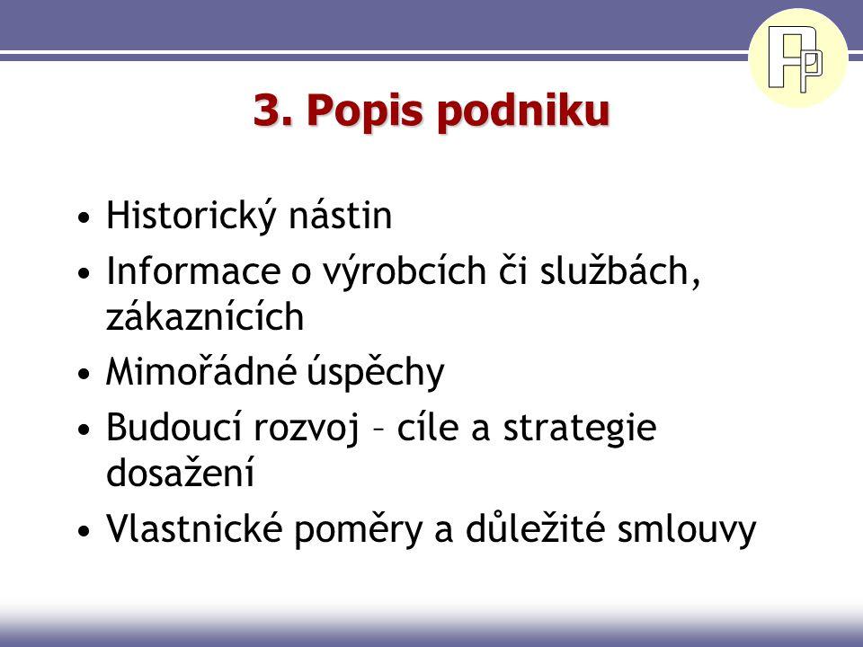 3. Popis podniku Historický nástin