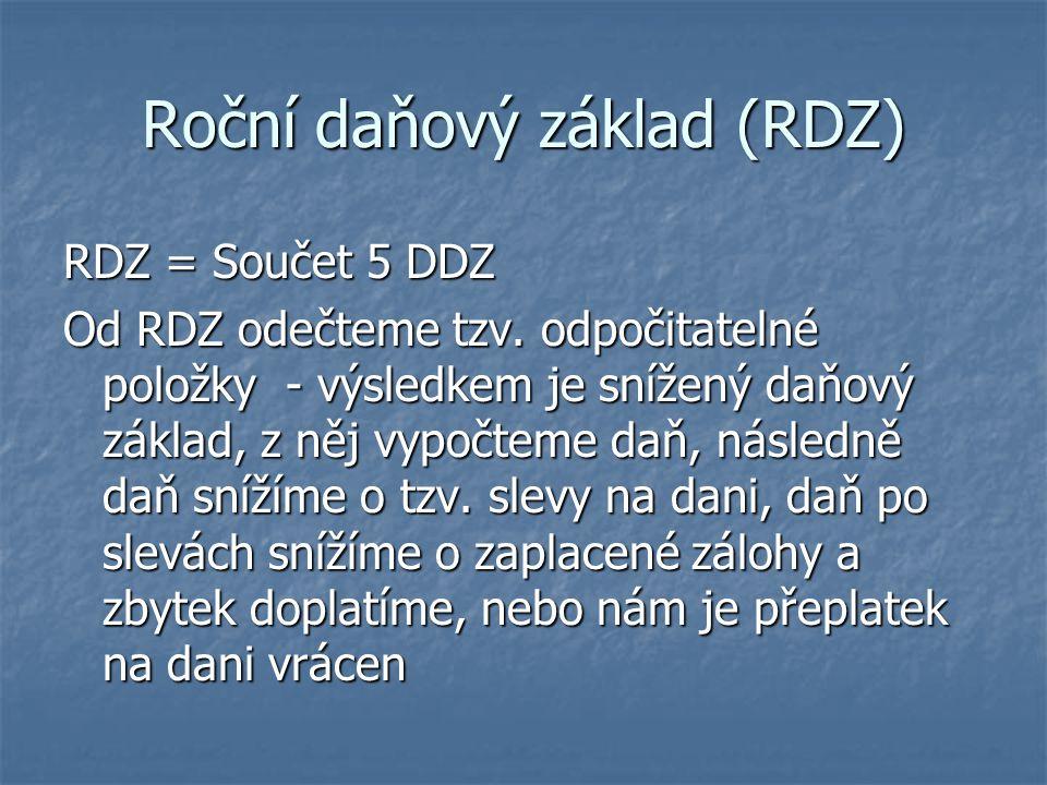 Roční daňový základ (RDZ)