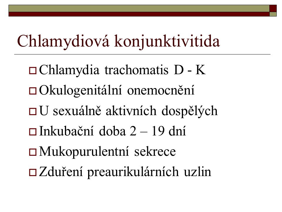 Chlamydiová konjunktivitida