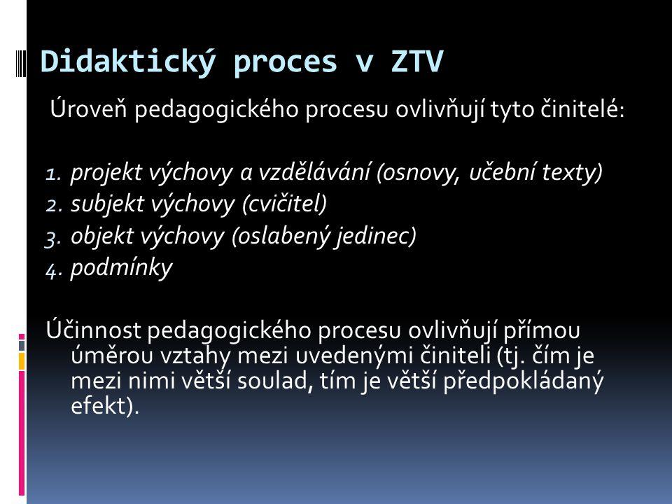 Didaktický proces v ZTV