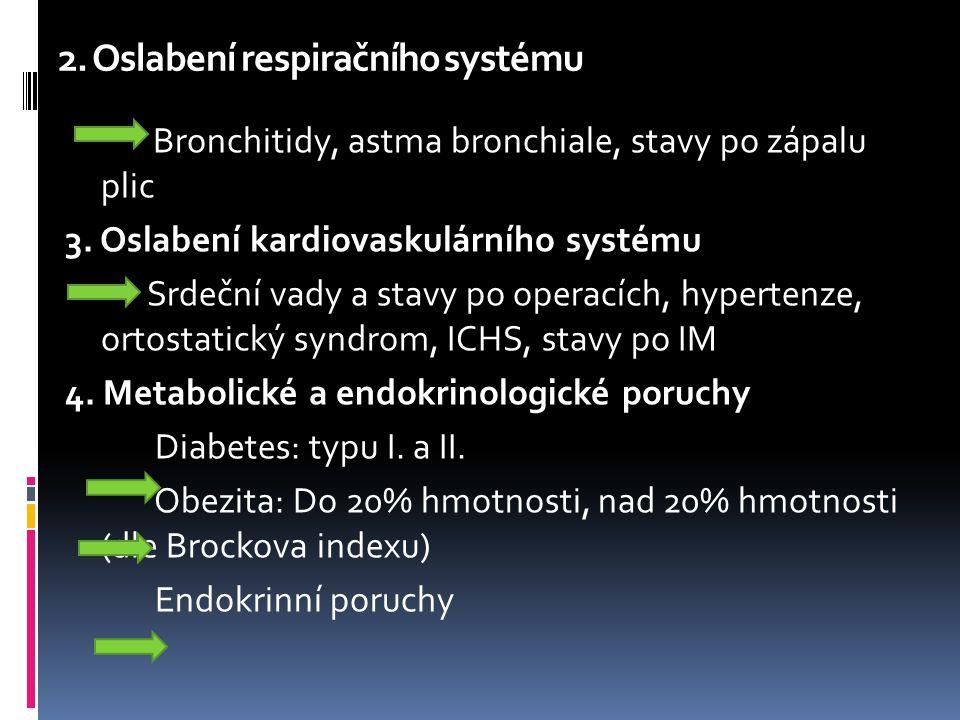 2. Oslabení respiračního systému