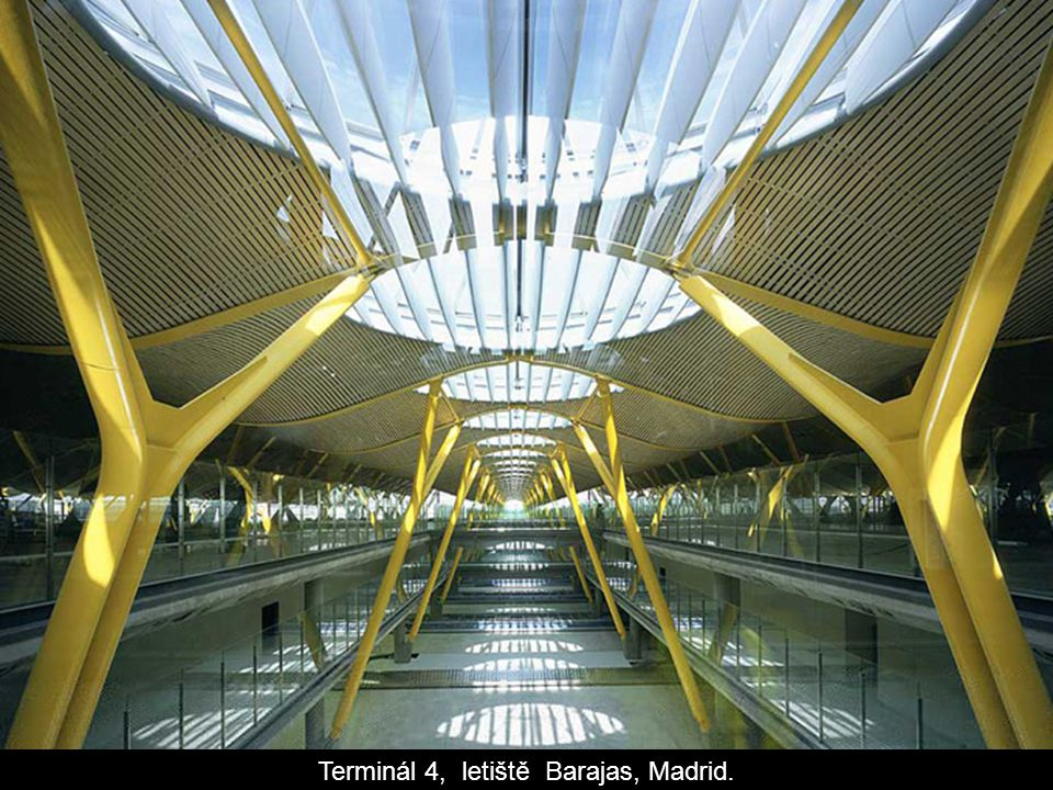Terminál 4, letiště Barajas, Madrid.