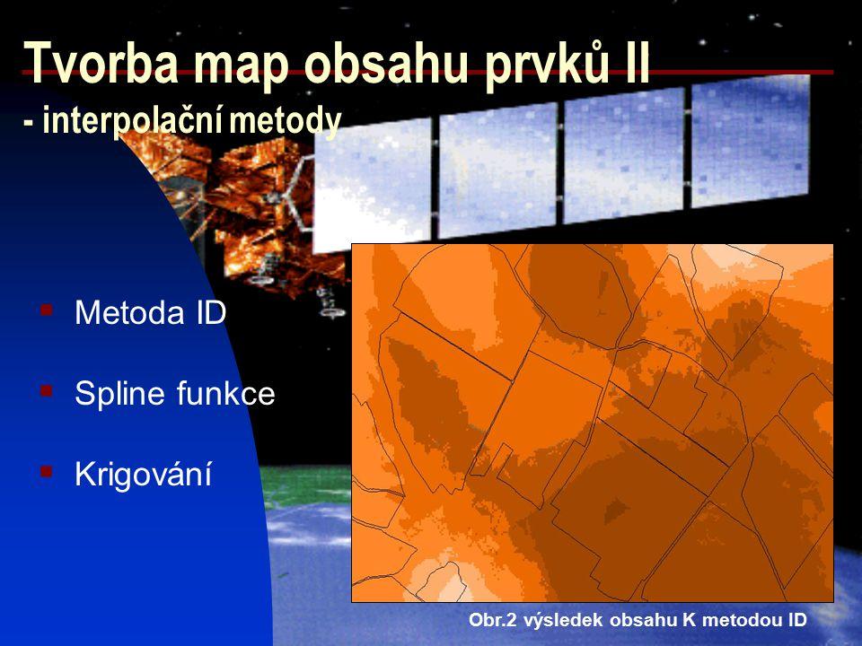 Tvorba map obsahu prvků II