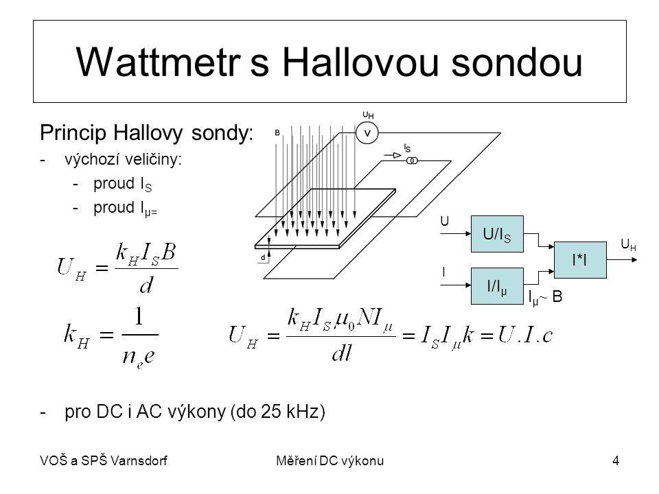 Wattmetr s Hallovou sondou