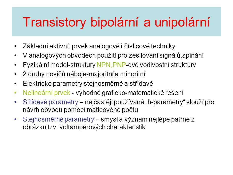 Transistory bipolární a unipolární