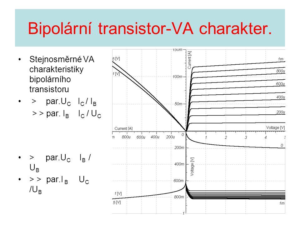 Bipolární transistor-VA charakter.