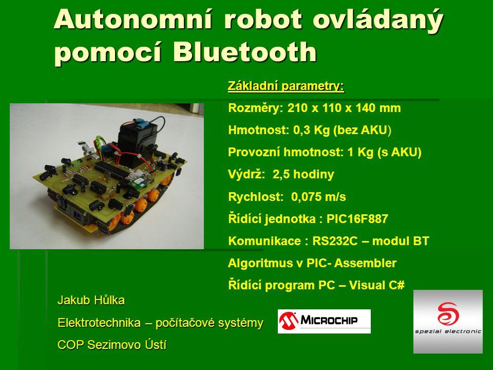Autonomní robot ovládaný pomocí Bluetooth