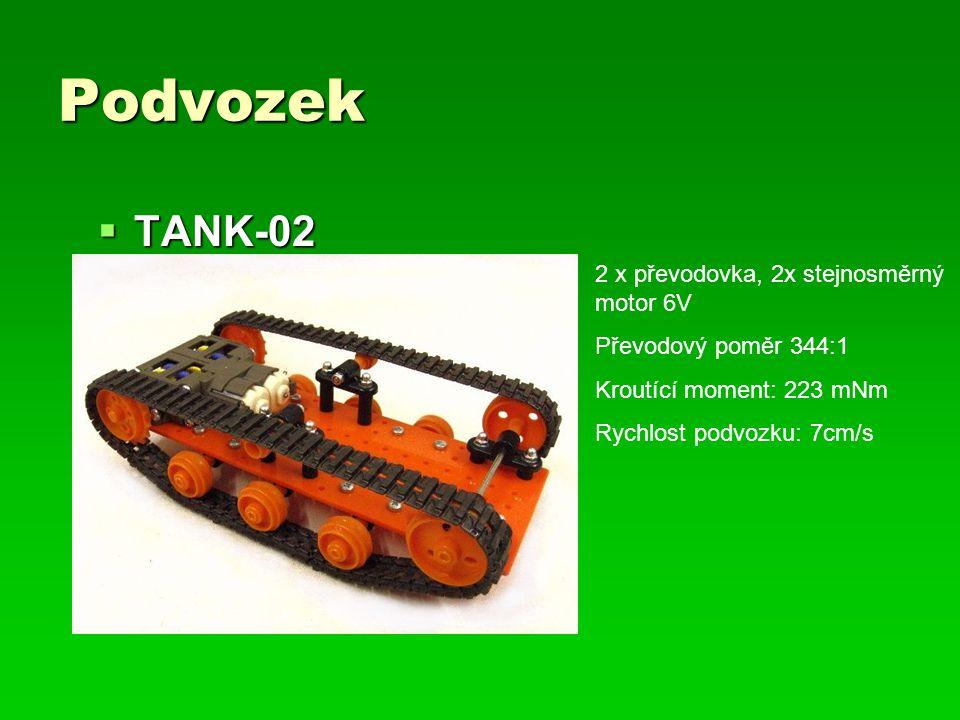 Podvozek TANK-02 2 x převodovka, 2x stejnosměrný motor 6V