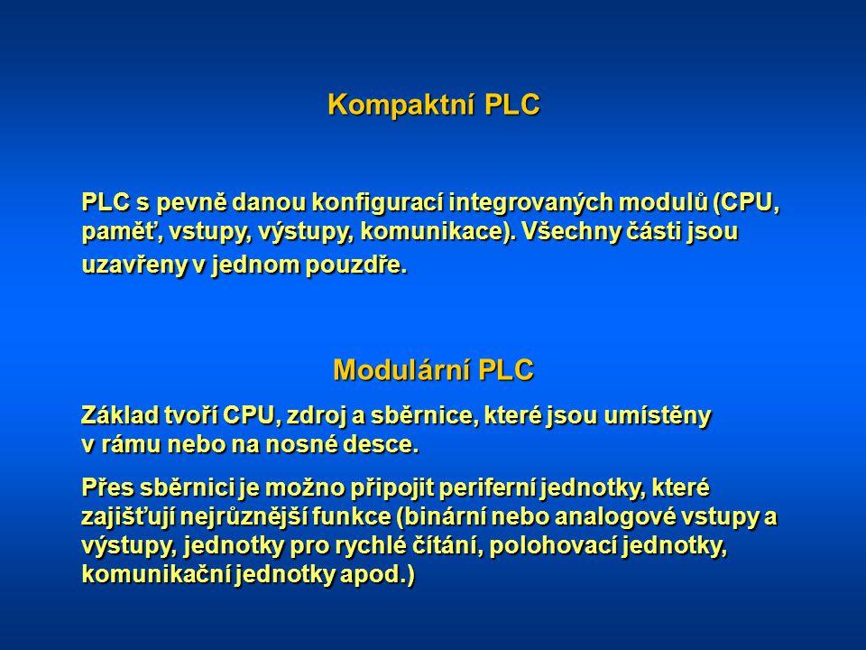 Kompaktní PLC Modulární PLC