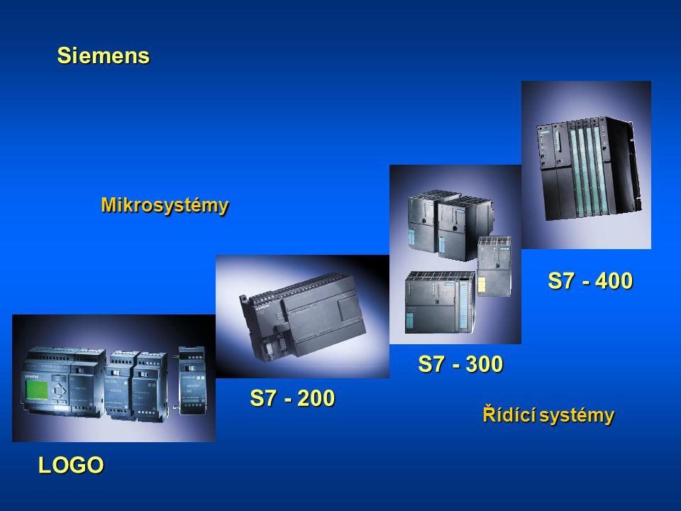 Siemens Mikrosystémy S7 - 400 S7 - 300 S7 - 200 Řídící systémy LOGO